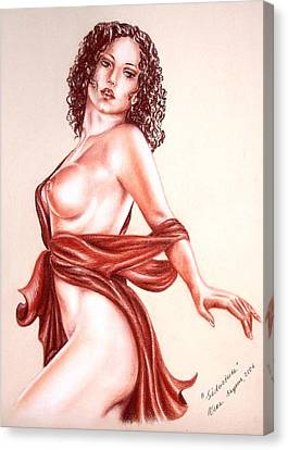 Seductrice Canvas Print by Vera Sayous