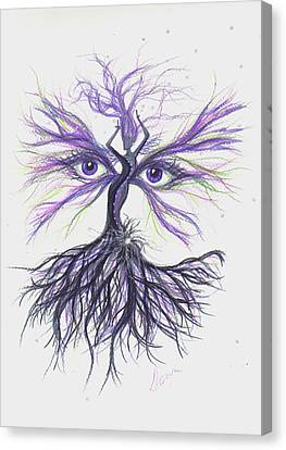 Canvas Print featuring the drawing See Lavender by Dawn Fairies