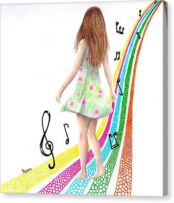 See The Music Canvas Print by Karen Orlanski