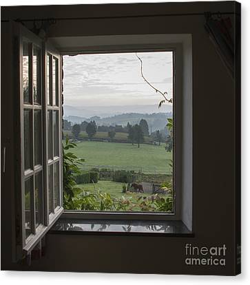 See Through Window Canvas Print by Compuinfoto