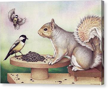 Seed For Two Canvas Print by Amy S Turner