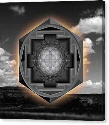 Seed Of Life Desert Mandala Canvas Print
