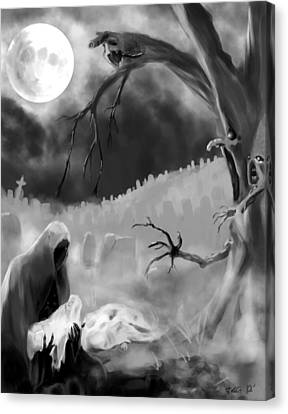 Ghost Story Canvas Print - Seeds Of The Unborn by Jack Goodwin