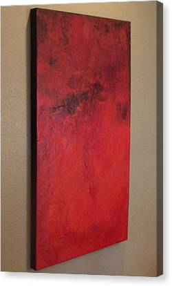 Canvas Print featuring the painting Seeing Red by Tamara Bettencourt