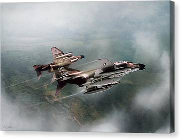 Canvas Print featuring the digital art Seek And Attack by Peter Chilelli