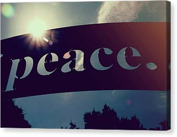 Canvas Print featuring the photograph Seek Peace And Pursue It by Joel Witmeyer