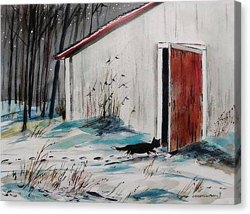 Seeking Shelter Canvas Print by John  Williams