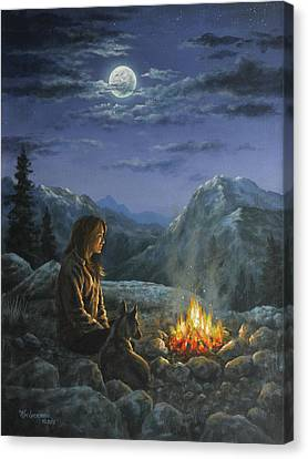 Canvas Print featuring the painting Seeking Solace by Kim Lockman