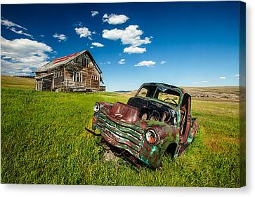Abandoned House Canvas Print - Seen Better Days by Todd Klassy