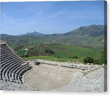 Segesta In Spring  Canvas Print by Clay Cofer