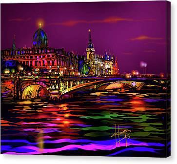 Seine, Paris Canvas Print by DC Langer