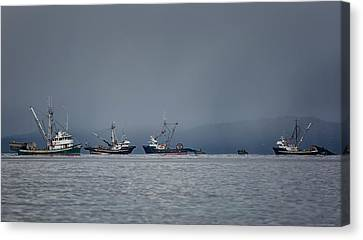Canvas Print featuring the photograph Seiners Off Mistaken Island by Randy Hall