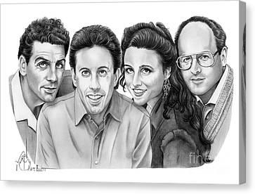 Seinfeld Cast Canvas Print by Murphy Elliott