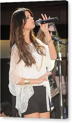 Selena Gomez At A Public Appearance Canvas Print by Everett