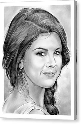 Selena Gomez Canvas Print by Greg Joens