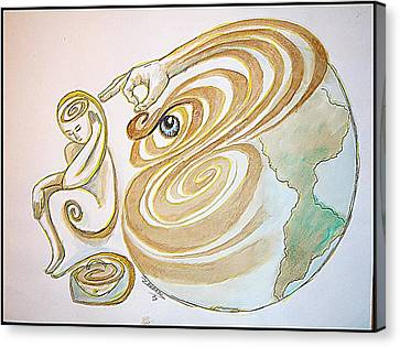 Self-awareness Canvas Print by Paulo Zerbato