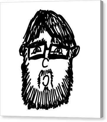 Self Comic Drawing Canvas Print by Karl Addison