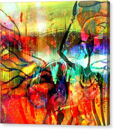 Self Discovery Canvas Print - Self Employed by Fania Simon