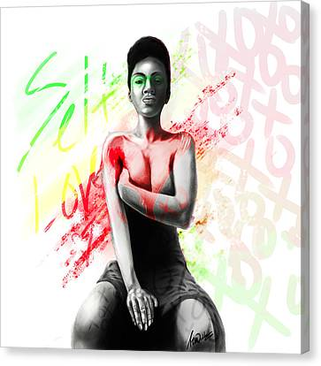 Self Love Xoxo Canvas Print by AC Williams