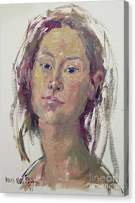 Self Portrait 1602 Canvas Print by Becky Kim