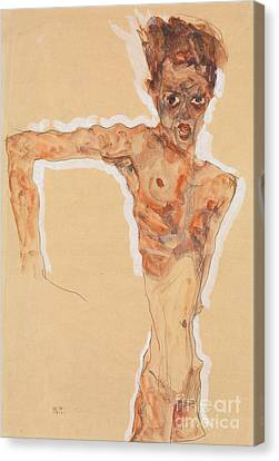 Outstretched Arm Canvas Print - Self-portrait, 1911  by Egon Schiele
