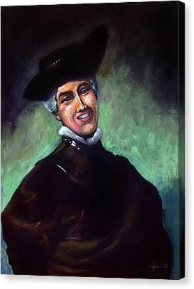 Self Portrait A La Rembrandt Canvas Print by Angela Treat Lyon