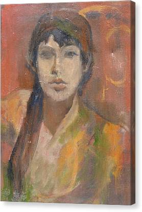 Self-portrait Canvas Print by Anita Dale Livaditis