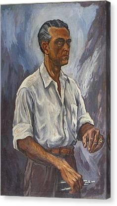 Self Portrait Canvas Print by Arturo Garcia Bustos