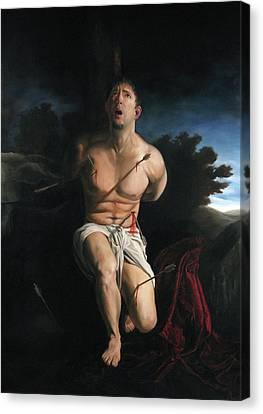Self Portrait As St. Sebastian Canvas Print by Eric  Armusik