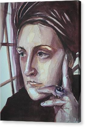 Self-portrait At 30 Canvas Print by Aleksandra Buha