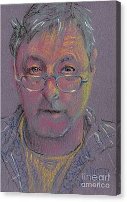 Self Portrait At 60 Canvas Print by Donald Maier