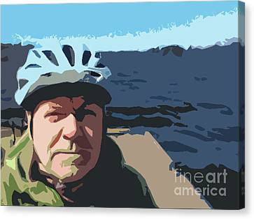 Canvas Print featuring the photograph Self Portrait by Bill Thomson