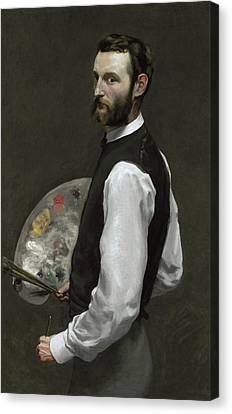 Self Portrait Canvas Print by Jean Frederic Bazille