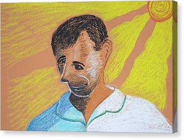 Self Portrait Canvas Print by M Valeriano