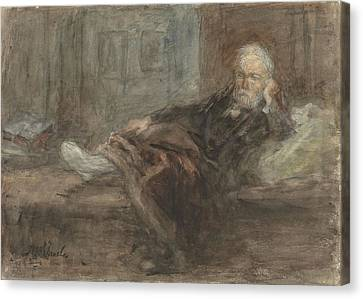 Self Portrait Canvas Print by Jozef Israels