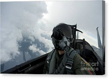 Self-portrait Of An Aerial Combat Canvas Print by Stocktrek Images