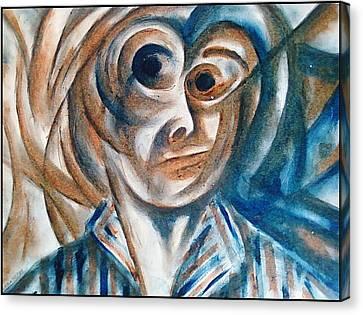 Self-portrait  Canvas Print by Paulo Zerbato