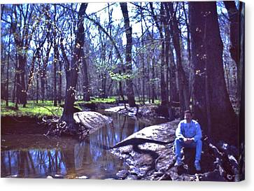Self Portrait   Tippecanoe River State Park   Indiana Canvas Print by Rory Cubel