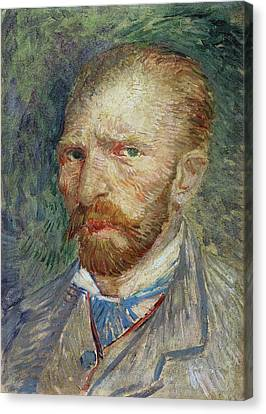 Self-portrait Canvas Print by Vincent Van Gogh