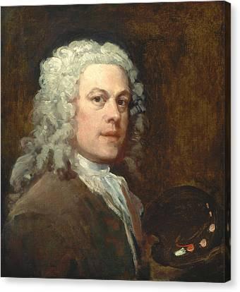 Hogarth Canvas Print - Self-portrait by William Hogarth