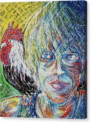 Self Portrait With Sammy Canvas Print by Duncan James