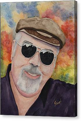 Self Portrait With Sunglasses Canvas Print by Sam Sidders
