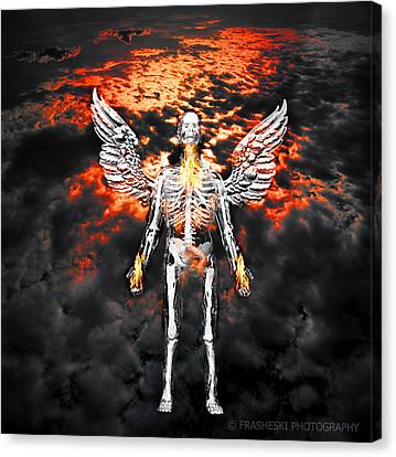 Self Portrait With Wings Canvas Print by Andy Frasheski