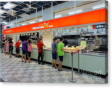 Canvas Print featuring the photograph Self-service Restaurant On A Sidewalk In Kaohsiung City by Yali Shi