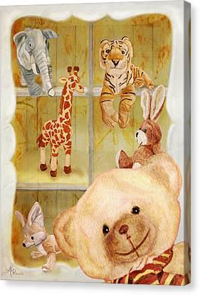 Buffet Canvas Print - Selfie Bear by Angeles M Pomata