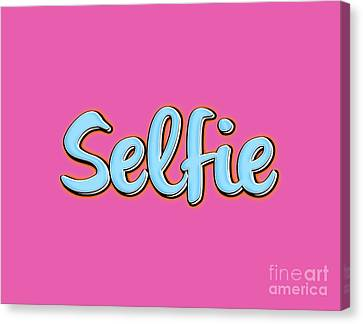 Selfie Tee Canvas Print by Edward Fielding