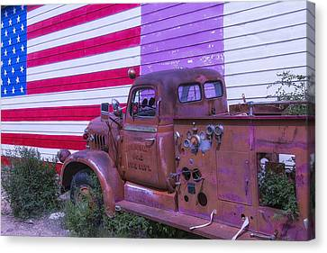 Seligman Fire Dept Engine Canvas Print by Garry Gay