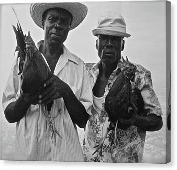 Haiti Canvas Print - Selling Roosters - Haiti by Reid Hitzeman