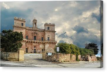 Selmun Palace On A Winter Day Canvas Print by Stephan Grixti
