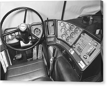 Semi-trailer Cab Interior Canvas Print by Underwood Archives